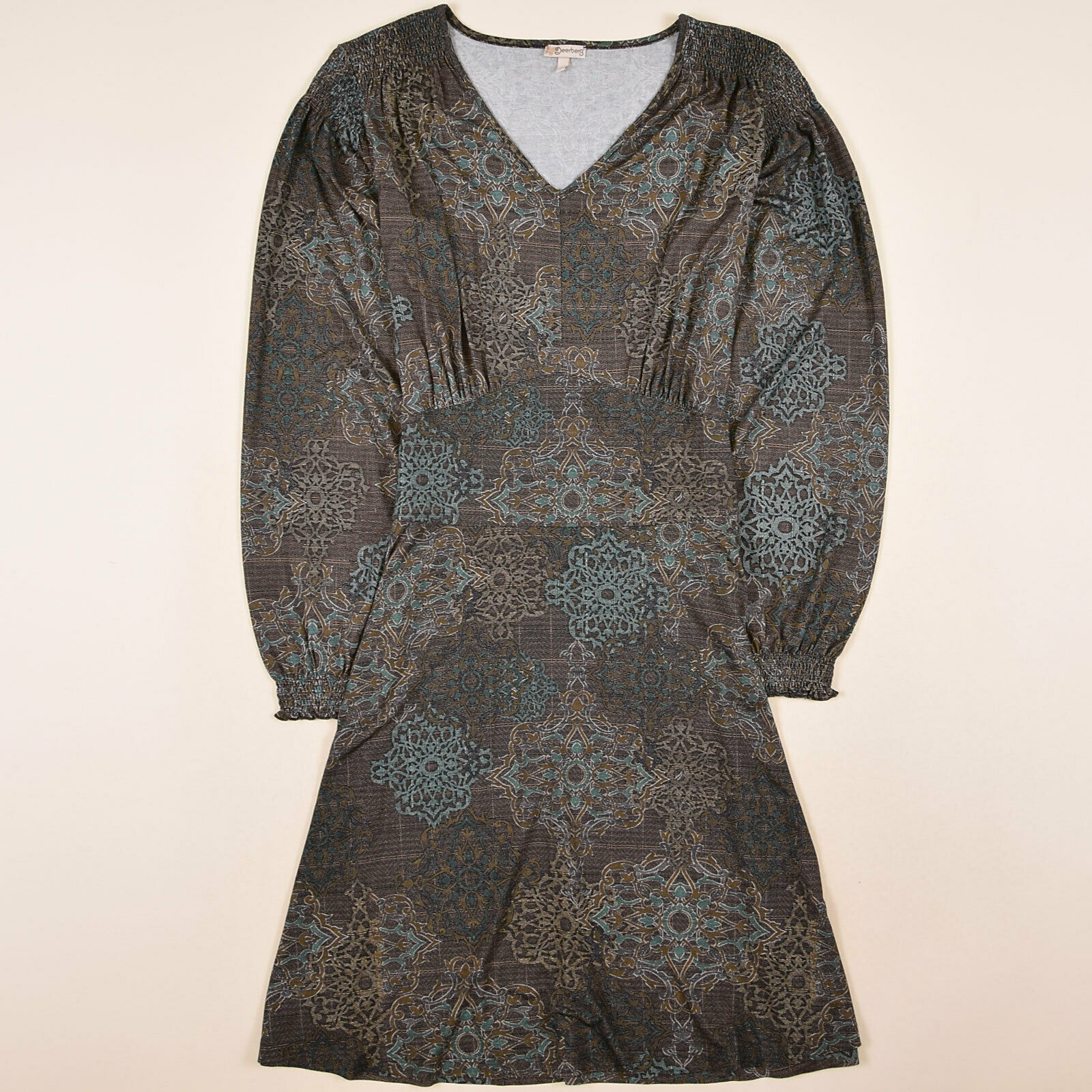 Deerberg Damen Kleid Dress A-Linien-Kleid Gr.S (36) Jersey Casual Freizeit 86860