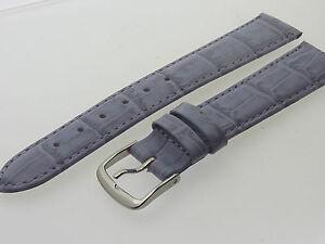 # L059 # Uhrenarmband Armband Leder Kroko Optik Bracelet Leather 18 Mm Kataloge Werden Auf Anfrage Verschickt
