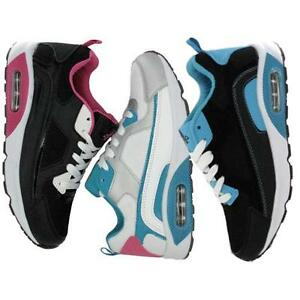 LADIES-RUNNING-TRAINERS-WOMENS-GIRLS-SPORTS-WALKING-LACE-FASHION-GYM-SHOES-SIZE