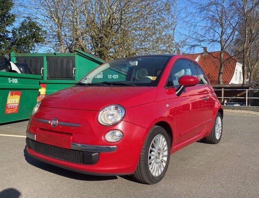 Fiat 500 1,2 Lounge 3d - 49.900 kr.