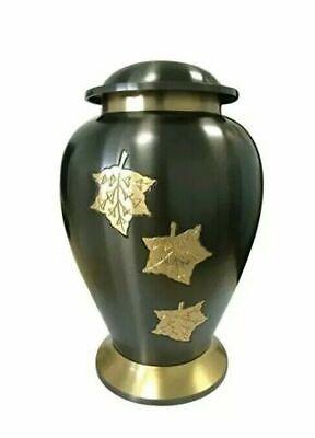 & Che Cadono Le Foglie In Ottone Cremazione Memoriale Ceneri, Grande Urna Funeraria Adulto 70,6-