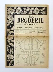La Broderie Lyonnaise N°1061 - 1950 - Broderies Pour Trousseaux - Alphabet - Htglw2cu-07183213-132365910