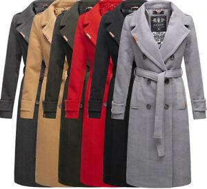 Navahoo Damen Mantel Trenchcoat winter Jacke übergangsjacke Dufflecoat Oksana