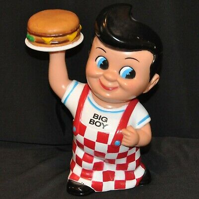 Bobs or Shoneys Big Boy Coin Bank with Hamburger in gift box 2010 Frisch/'s