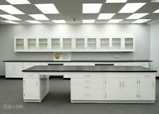 12x4 Island Table For Laboratory With Desk Area Cabinets Tops Bench E1 112