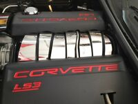 Corvette C6 Ls3 7 Pc Intake Plenum Cover Engine Stainless Chrome 2008-2013 Only