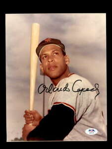 Orlando Cepeda PSA DNA Coa Hand Signed 8x10 Photo Autograph