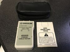 Greenlee 45055 Coaxial Cable Tester With Case Good Condition Free Shipping