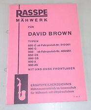 Teilekatalog Rasspe Mähwerk für David Brown Schlepper Stand 05/1964