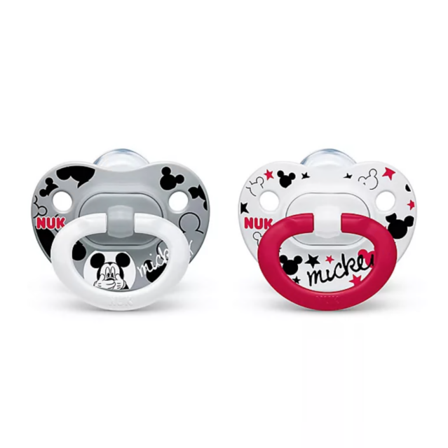 Phillips Avent baby pacifier with matching clip 0-6 months MICKEY also available.