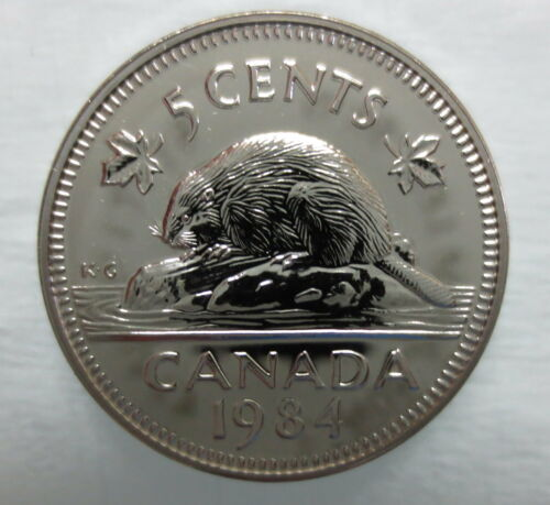 1984 CANADA 5 CENTS PROOF-LIKE NICKEL COIN