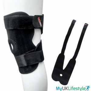 9ec16a05e6 Image is loading Knee-Support-Open-Patella-Adjustable-Velcro-Brace -Stabilising-