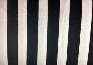 Black-White-Stripes-7-8-Inch-Awning-Stripe-100-Cotton-Fabric-BTY-Half-Yard-a3-9