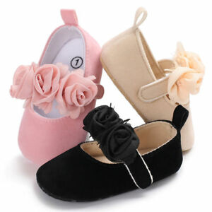 US Baby Girls Party Dress Kid Spring Flat Heels Shoes Girls Bow Princess Shoes