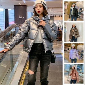 Winter-Women-Quilted-Short-Coat-Ladies-Thick-Puffer-Hooded-Parka-Jacket-Outwear
