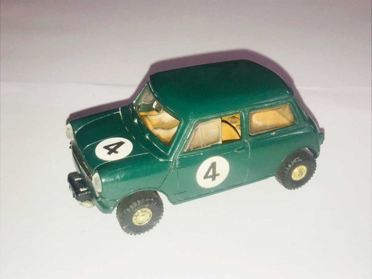 SCALEXTRIC FWD GREEN AUSTIN C76 MINI COOPER RALLY MOTOR RACING SLOT CAR SPORT