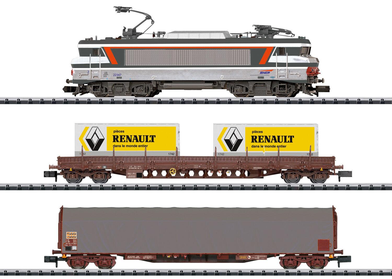 Minitrix Spur N 11142 Digital-Confezione iniziale treno merci francese