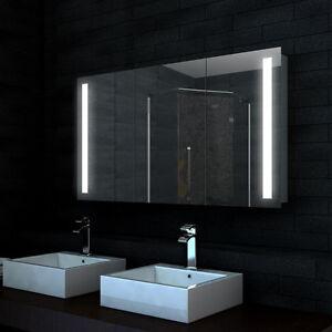 LED Badschrank Badezimmer Spiegelschrank Badmöbel ...