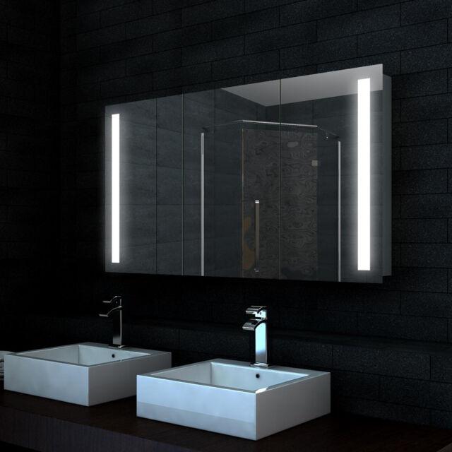 bad alu led badezimmer spiegelschrank badspiegel schrank