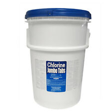 "50 lbs Bucket 3"" Inch Tabs 50lb Stabilized Chlorine Tablets Pool 99% Tri-Chlor"