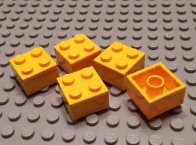 2x2 Pieces Block Parts New LEGO Bulk Lot 40 YELLOW BRICKS