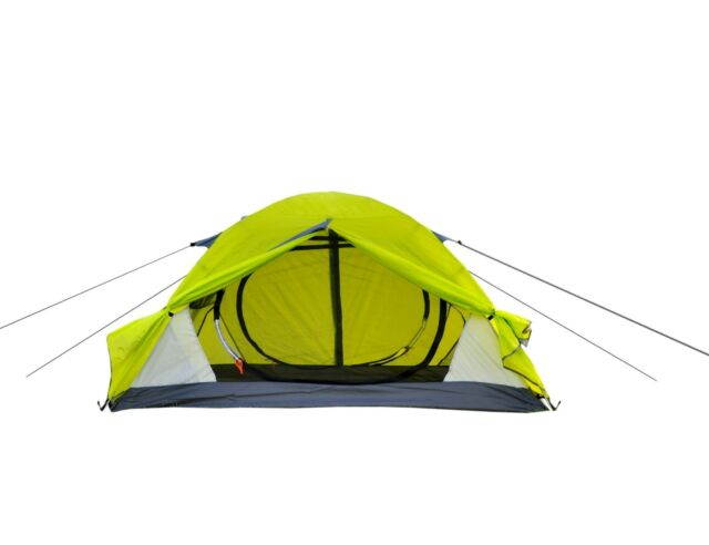 2 Person Camping Tent Pop Up 2 Layer Aluminum EZ Set Up Hiking Dome Backpack