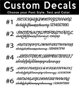 custom car stickers script style writing vinyl name lettering bumper