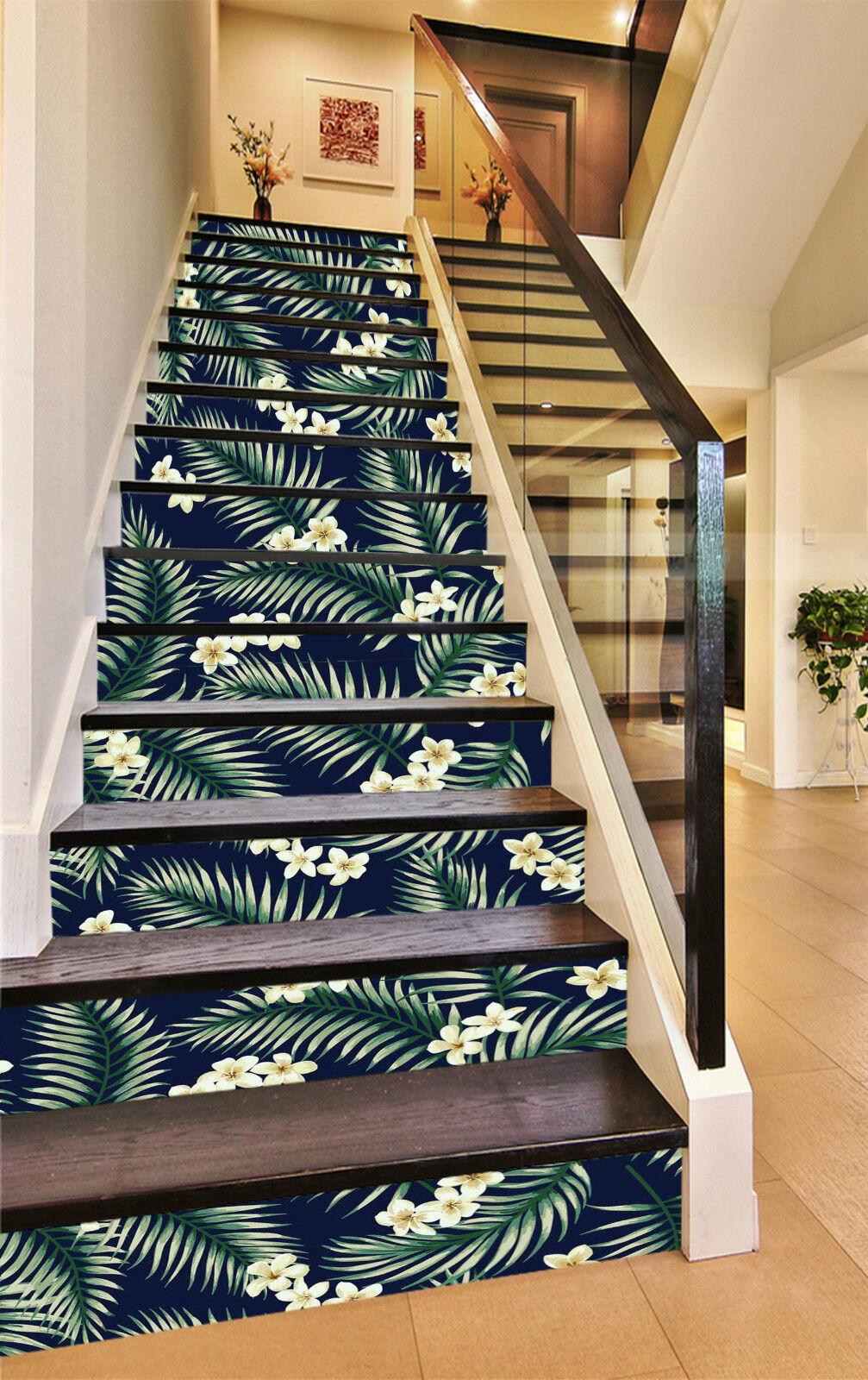 3D Wei Blaume 682 Stair Risers Dekoration Fototapete Vinyl Aufkleber Tapete DE