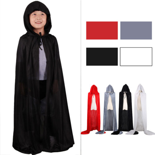 Velvet Halloween Christmas Cloak Hoodie Cape Kids Boys Girls Cosplay Costume