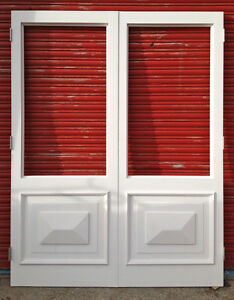 Wooden hardwood french doors with diamond panel made to for Hardwood french doors