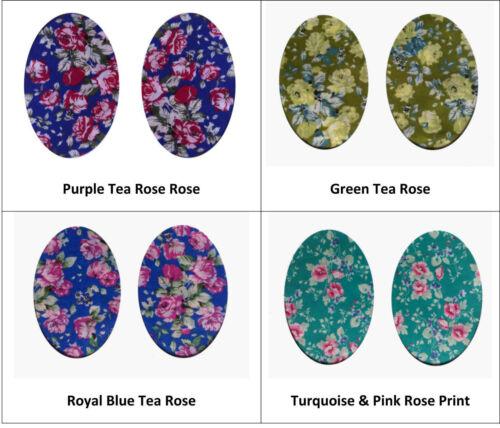 Taille /& tissu choix personnaliser Floral coude//genou Patches fer sur Sew Réparation