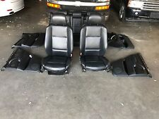 BMW X5 E53 HEATED SPORT SEAT SEATS 4.6is 4.8is DOOR PANEL LEATHER BLACK OEM A