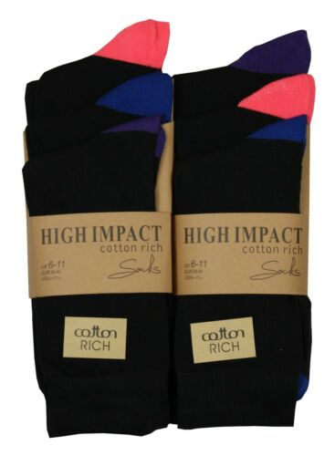 6 Paires Homme High Impact chaussettes coton riche taille 6-11 respirant Smart Chaussures