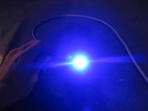 LED Boat Drain Plug Light INSANE BLUE 1000 Lumen Brass Transom 2 Pack