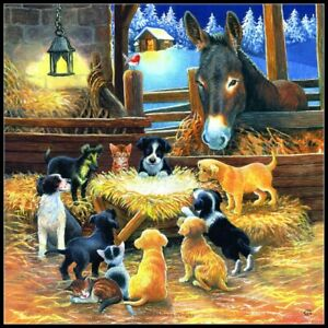 Barnyard Nativity - Chart Counted Cross Stitch Pattern Needlework Xstitch craft