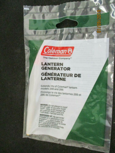 Coleman Lantern Generator for 288 and 286 Lanterns ~ Genuine Parts New in Pack