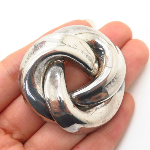 925 Sterling Silver Knot Design Pin Brooch