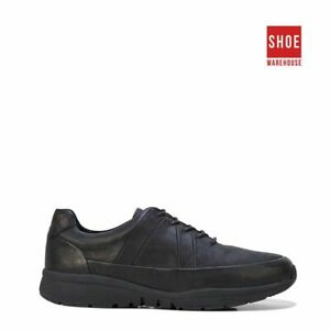 Hush Puppies SLEEK Black Womens Low Sport/Athletic Leather Shoes