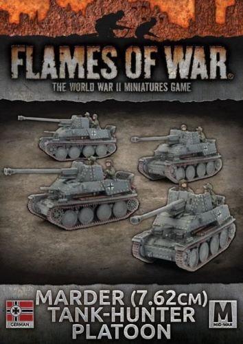 Flames of War  Mid War  German  Marder (7.62 cm) Tank Hunter Platoon (GBX110)