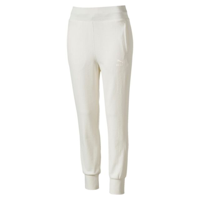 3a0639fbe611d Puma Women's CLASSICS STRUCTURED ARCHIVE T7 Pants White 573573-21 b Size S