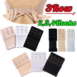 3ROW-2Hook-3Hook-4Hook-Bra-Extender-Extension-Elastic-Back-Clips-Strap-Strapless