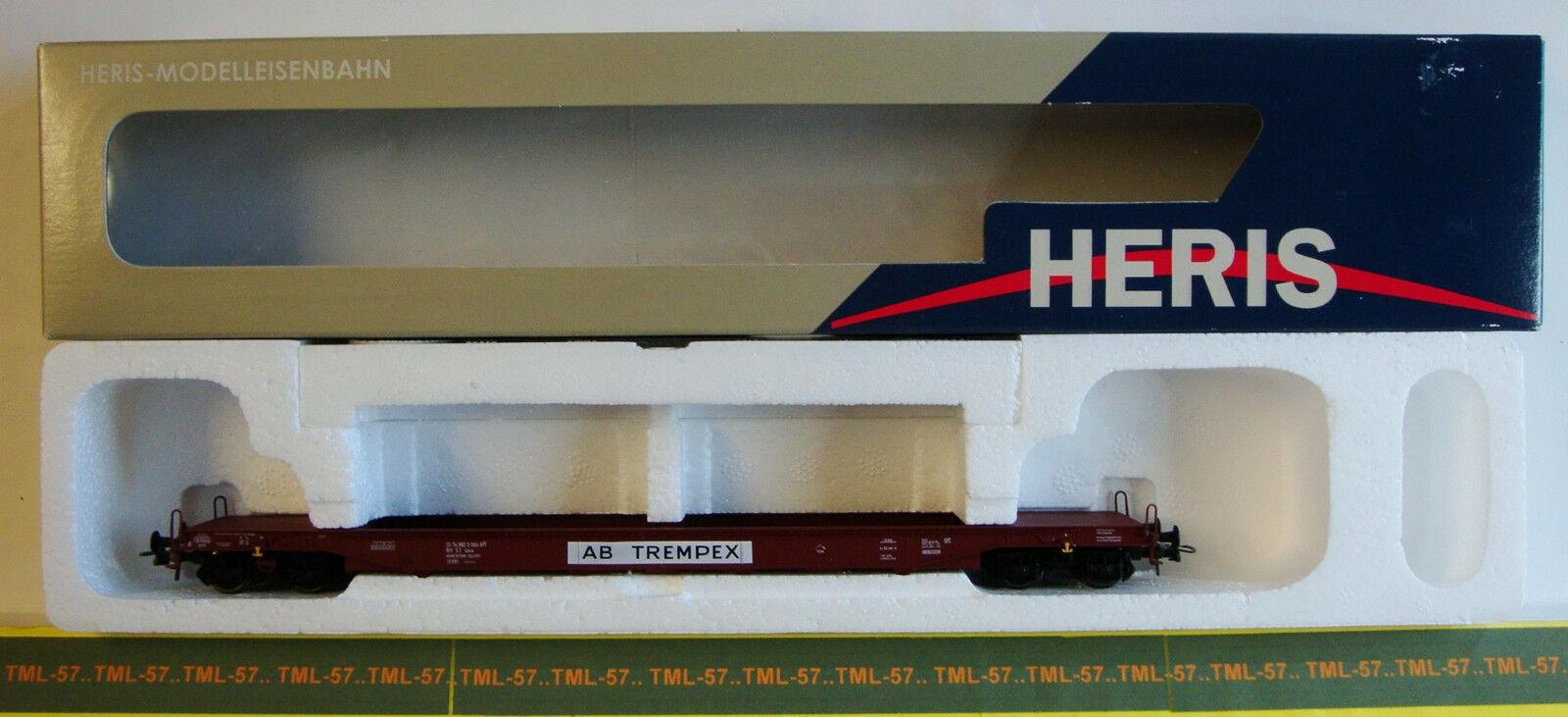 Wagon HERIS HO - Porte Conteneurs transport de Verre à Bogies des SJ - Ref 15513