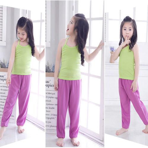 Kids Girls Boys Harem Loose Trousers Bloomer Pants Children Dance Bottoms Casual
