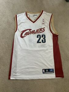 timeless design 81d60 fd880 Details about LeBron James Cavs Throwback VTG jersey (Medium, Reebok) GREAT  condition