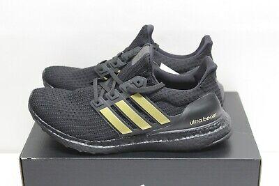 Adidas Ultraboost Ultra Boost 4.0 DNA Size 9 FU7437 Black Gold NEW