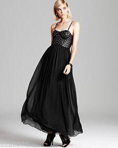 Image Is Loading Alice Olivia Black Ciel Studded Leather Bodice Maxi