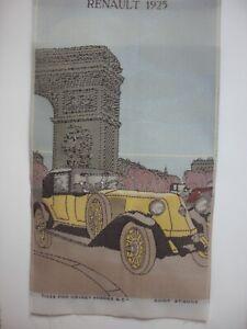 Original Silk Stevengraph picture RENAULT 40 HP 1925