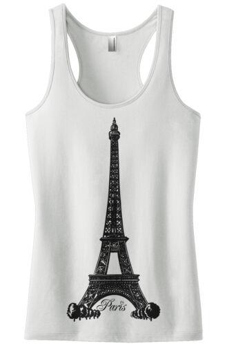 Threadrock Women/'s Eiffel Tower Paris France Racerback Tank Top French Pride