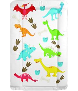 MollyDoo UK Made Baby Boys Primary Colours Dinosaur Pattern Nappy Changing Mat