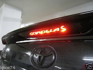 2012 Toyota Corolla For Sale >> Toyota Corolla S 3rd brake light decal overlay 2013 | eBay